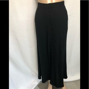 DKNY VINTAGE HIGH WAIST BUTTON DOWN MAXI SKIRT 2